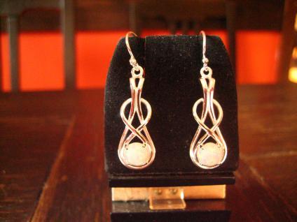 moderne sehr edle Opal Ohrringe Hänger 925er Silber weißgold optik antik Stil