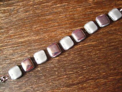 hochelegantes Armband grau silber NEU Kunsthandwerk Arts & Crafts Boho Chic - Vorschau 2