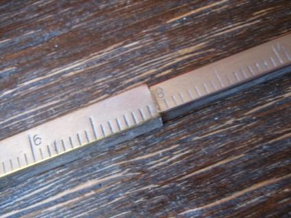 Rarität Bleistift mit Lineal zum Ausziehen silber pl Reklame Smyngton's Soups - Vorschau 3