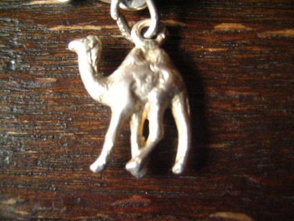 winziger antiker Anhänger Bettelarmband Charm Kamel Dromedar 800er Silber