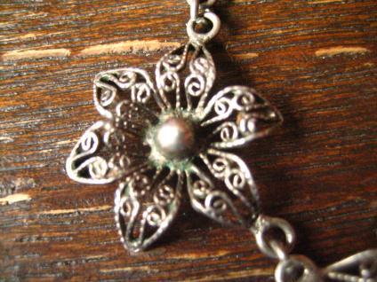bezauberndes Jugendstil Collier filigrane Blüten Blumen 800er Silber Dirndl - Vorschau 3