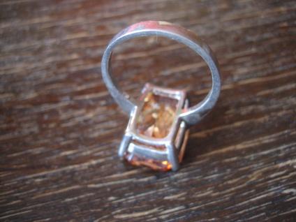 klassisch eleganter Mandarintopas Ring im Art Deco Stil 925er Silber RG 58 / 59 - Vorschau 4