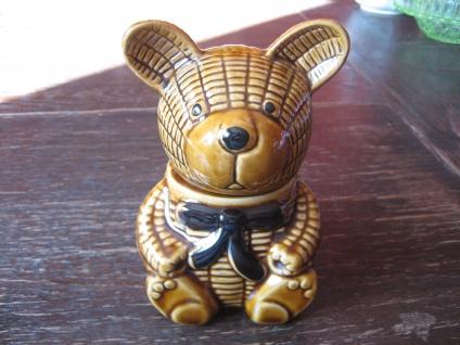 zauberhafter Marmeladentopf Honigtopf Bär Bärchen Keramik Honigbär unbenutzt