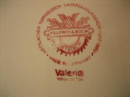 Konvolut Villeroy & Boch Valeria Rot große Servierplatte + Butterplatte Platte - Vorschau 2