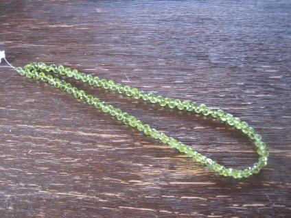Traum in Giftgrün Unikat Collier Peridot Onion Briolette Verschluss nach Wahl