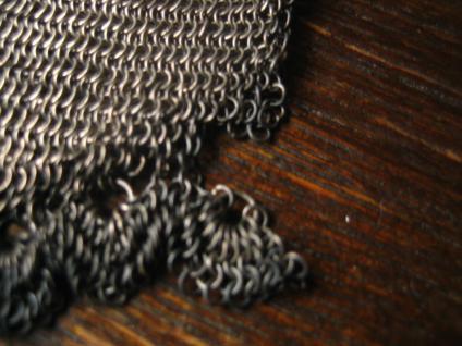 ausgefallene Jugendstil Geldbörse Silber Geldbeutel Täschchen Kettentasche 800er Silber - Vorschau 2