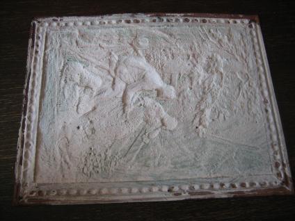 Rarität Jugendstil Buchbeschlag Buchdeckel Kupfer Bild Watteau Szene Romantik - Vorschau 4