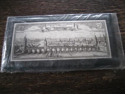 historische Stadtansicht Regensburg Messingbild Messinggravur