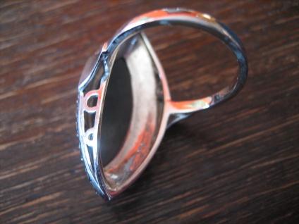 prächtiger Art Deco Markasit Ring Schiffchenring 925er Silber TOP Zustand RG 56 - Vorschau 3