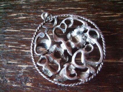 reizender antiker Rosen Anhänger Rose plastisch 835er Silber Tracht Dirndl 3 cm - Vorschau 4