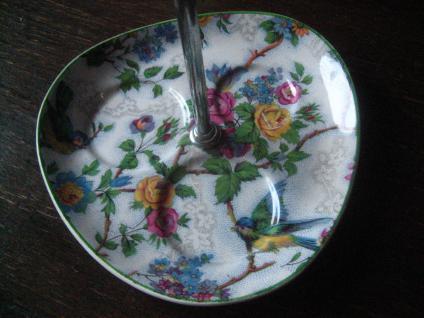 bezaubernde Gewürzmenage Salz- und Pfefferstreuer Senftöpfchen Vögel Blüten - Vorschau 3