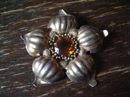 besonders schöne antike Blüten Blumen Brosche Blume Blüte 925er Silber vergoldet