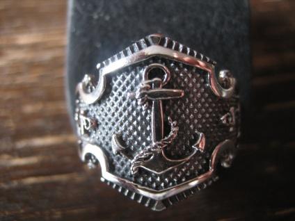 mächtiger maritimer Herrenring Ring Anker 925er Silber neu et Nox 20, 5 mm G 65