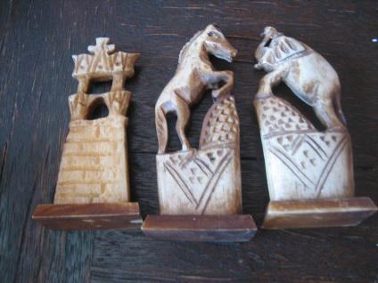 Prächtige vintage Schachfiguren Ägypten aufwändig geschnitzt ägpytische Motive - Vorschau 3