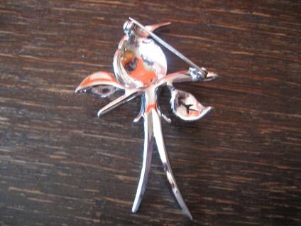 Traum Art Deco Markasit Brosche Paradiesvogel Kolibri 925er Silber TOP Zustand - Vorschau 4