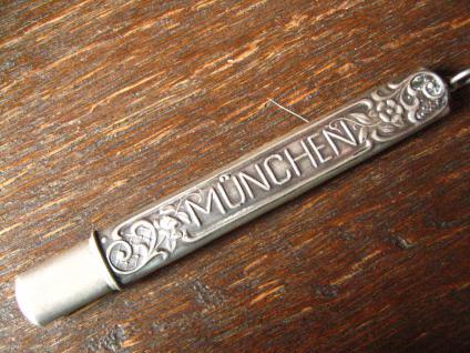 Jugendstil Anhänger 800er Silber Etui für Bleistift Souvenir Andenken München