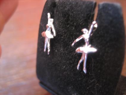 reizende Ohrringe Stecker Ohrstecker 925er Silber Ballerina Ballett Tänzerin NEU - Vorschau 3