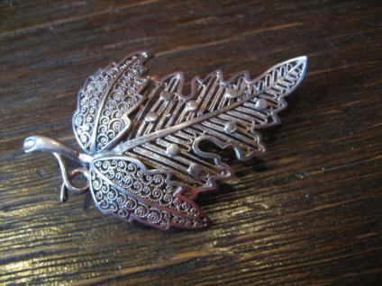 Jugendstil Brosche Blatt Weinblatt Weinlaub 800er Silber Leaf Brooch Handarbeit