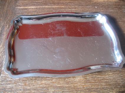 edles großes Tablett Serviertablett tolle Form rechteck Uginox Edelstahl silber