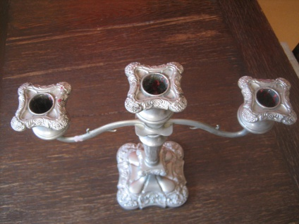 prächtiger Kerzenständer Kerzenhalter Kerzenleuchter Kandelaber PL 3-arm 3armig B - Vorschau 3