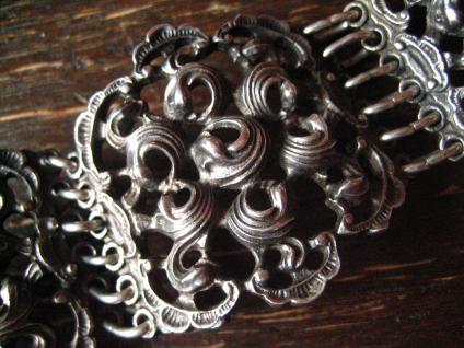 Opulentes Vintage Trachtenschmuck Armband 4 cm breit 925er Silber 74, 5 gr Dirndl - Vorschau 2
