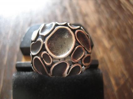 origineller dekorativer moderner Statement Designer Ring 925er Silber NEU RG 64