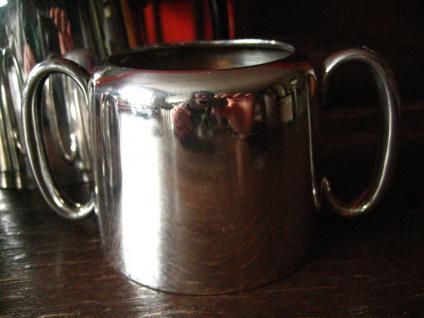 3teiliges Hotelsilber Teekanne Kaffee Zuckerdose Milchkanne silber pl Sheffield - Vorschau 3