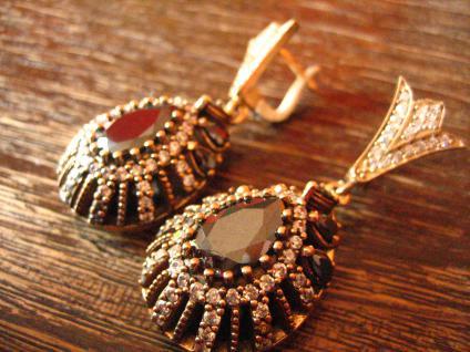 Kronjuwelen gesucht ? opulente Ohrringe Hänger 925er Silber Zirkonia brillant - Vorschau 3