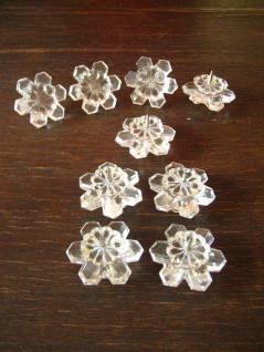 Konvolut 5 + 4 = 9 Stück kleine Kerzenständer Kerzenhalter Kristall Glas Prismen