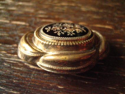 nostalgische original Biedermeier Brosche gold Emaille emailliert wunderschön - Vorschau 3