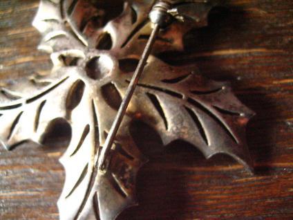 große Art Deco Markasit Brosche Weihnachtsstern Stern Blume Blüte 835er Silber - Vorschau 3