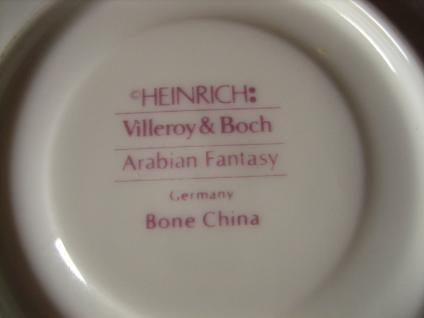 reizende Mokkatasse Espressotasse Arabian Fantasy + Untertasse Villeroy & Boch - Vorschau 3