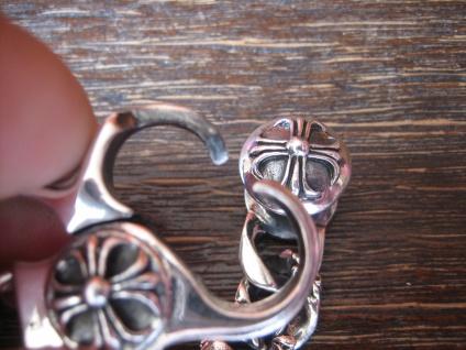 massives edles Herren Armband Fleur de Lys Lilie 925er Silber 64 gr 22 cm lang - Vorschau 4