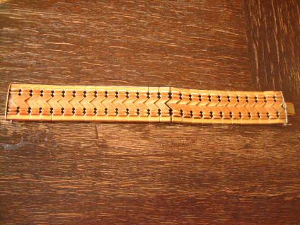 prächtiges Art Deco Armband gold Goldarmband 2, 5 cm breit sehr schwer 19 cm lang