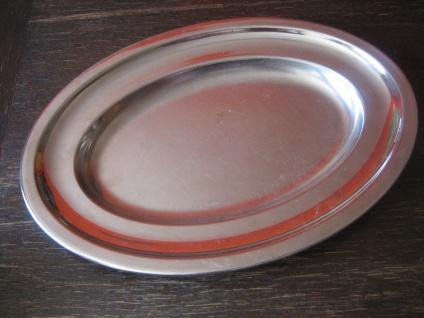zeitlose Servierschale Servierplatte Platte Bratenplatte Edelstahl 18/8 Grömo