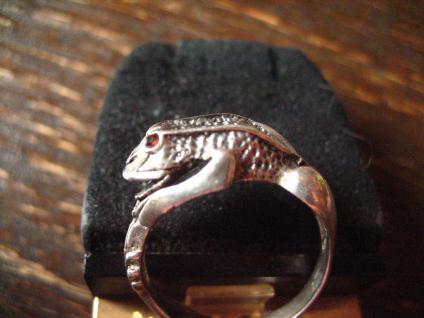 bezaubernder Froschring Frosch Kröte Unke Ring 925er Silber plastisch Krafttier
