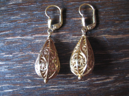 traumhaft schöne Ohrringe Hänger Chandeliers 925er Silber gold Handarbeit Italy
