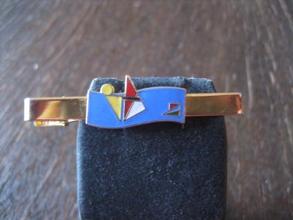 vintage Sport Krawattennadel Krawattenklemme Surfen Surfer Beach Emaille gold