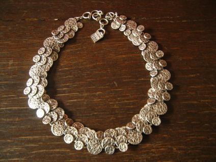 extravagantes edles Statement Collier Kette Designer Leonardi Arte alt - silber