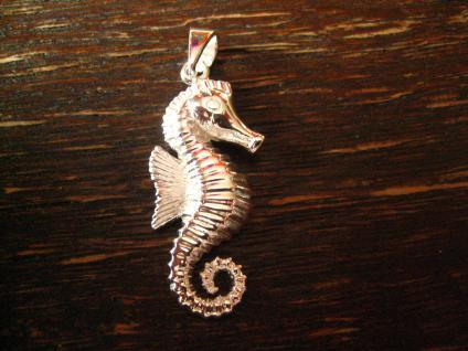 super niedlicher Seepferdchen Anhänger auch für Kinder 925er Silber poliert Charm