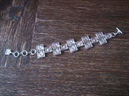 ausgefallenes exklusives Statement Armband Designer Leonardi Arte alt - silber