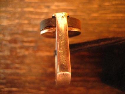 exklusiver vintage Designer Ring 835er Silber schimmerndes Tigerauge RG 55 - Vorschau 4