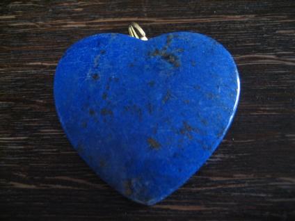 prächtiger riesiger Lapislazuli Herz Lapis Lazuli Anhänger gold 4 x 4 cm NEU