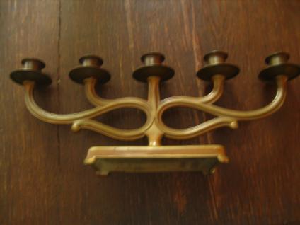 Rarität Jugendstil 5arm Kerzenständer Kerzenleuchter Kerzenhalter Bronze sign.