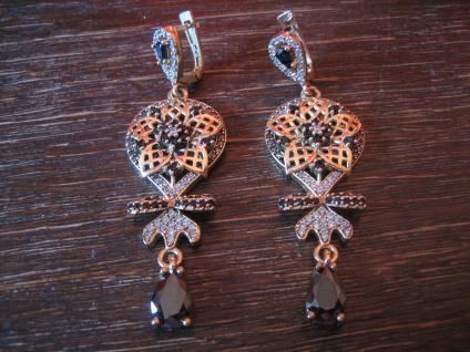 Kronjuwelen gesucht ? opulente Ohrringe Barock Stil 925er Silber gold Zirkonia