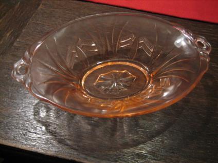 kleine Art Deco Pressglas Schale Jardiniere pink sehr hübsch und vielseitig