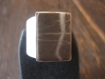 prächtiger Herrenring Designer Ring Kieselstein 925er Silber RG 60 19 mm Unikat