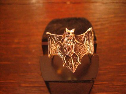 prächtiger großer Fledermaus Ring wunderschön gearbeitet 925er Silber neu et Nox - Vorschau 1