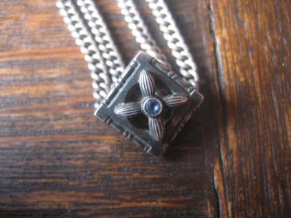 überlange Jugendstil Schieberkette Damen Uhrenkette 140 cm Kette Schieber silber - Vorschau 2