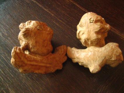 großes prächtiges Paar Engelköpfe 2 Engel Putto Köpfe Holz geschnitzt Handarbeit - Vorschau 4